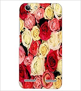 PrintDhaba Roses D-2152 Back Case Cover for LENOVO A6020a46 (Multi-Coloured)