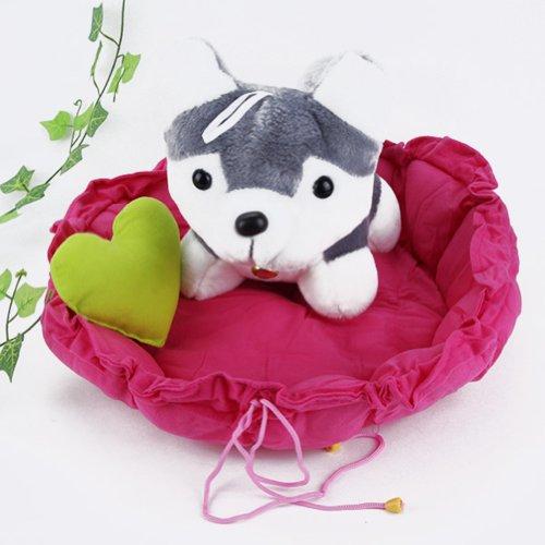 Urparcel Pet Puppy Dog Cat Sleeping Bed Cushion Mat Kennel Nest Warm House Rose