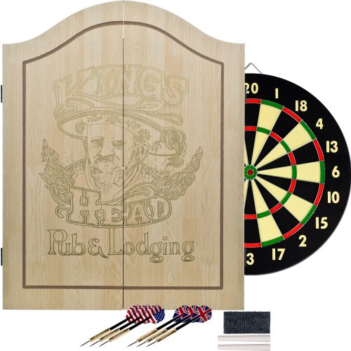 Why Choose King's Head Light Wood Dartboard Cabinet Set