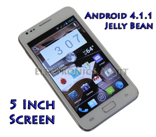 Unlocked PAE8000 Android Phone 4.1.1 Jelly Bean 5 Inch Screen MTK 6577