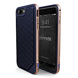 X-Doria Case for iPhone 7 Plus (Defense Lux), Military Grade Drop Tested iPhone Case, TPU & Aluminum Premium Protective iPhone 7 Plus Case (Blue & Gold)
