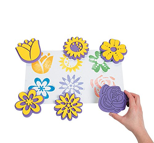 Foam Flower Stamps - 12 Pack