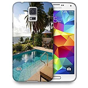 Snoogg Abstract Resort Printed Protective Phone Back Case Cover For Samsung S5 / S IIIII