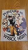 Purdue vs Wisconsin Ross Ade Stadium Football 1974 Vintage Program J39055
