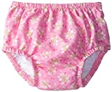 i play. Baby-Girls Infant Ultimate Snap Ruffle Swim Diaper-Classic Light, Pink, 6-12 Months