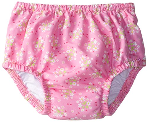I Play. Baby-Girls Infant Ultimate Snap Ruffle Swim Diaper-Classic Light, Pink, 6-12 Months front-10889