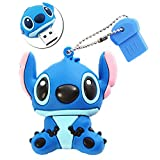 Sunworld Cute Cartoon Stitch Style 32GB USB 3.0 Flash Drive Memory Stick with Keychain - Blue