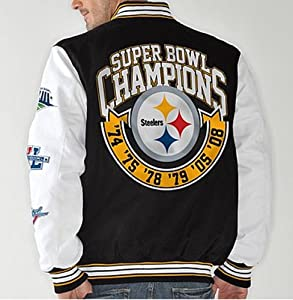 NFL Pittsburgh STEELERS Super Bowl Cotton Canvas Commemorative Jacket~ 2XL by G-III Sports
