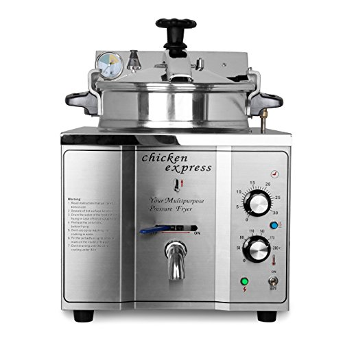 Ridgeyard 15L Stainless Steel Pressure Deep Fryer Machine Cooking Countertop for Commercial Restaurants Home (Electric Pressure Fryer compare prices)