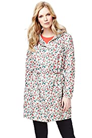 Shower Resistant Floral Hooded Parka