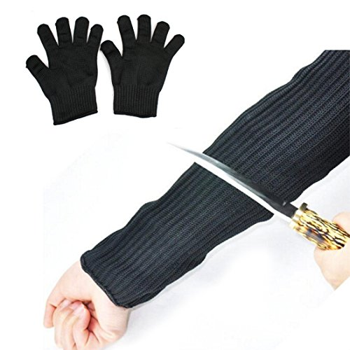 FOCUS Wire Security Arm Sleeve Cut Resistant Gloves Wear Protective Sleeves Anti-cutting Security Wrist Tool Sets (2pcs 1 pair of