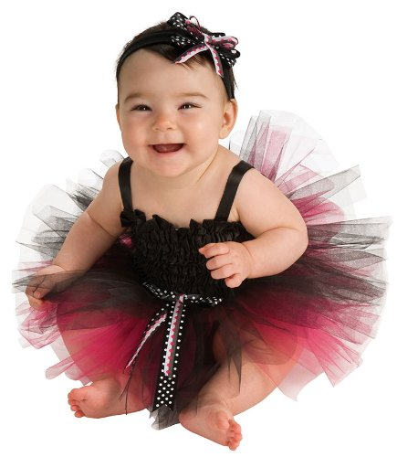Black And Pink Tutu Baby Costume - 6-9 Months