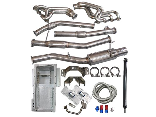 LS1 LSx T56 Mount Kit + Header Catback Exhaust + Oil Pan Driveshaft 240SX S13