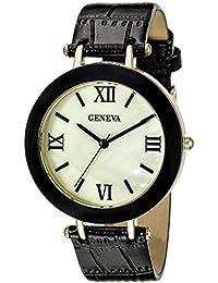 Geneva Women's FMDM323C Analog Display Japanese Quartz Black Watch