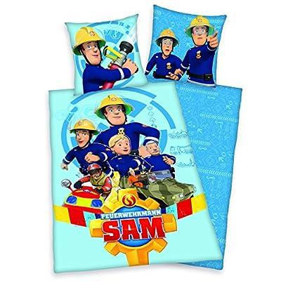 Bettwäsche Feuerwehrmann Sam, 135 x 200 cm 80 x 80 cm , 100% Baumwolle, Biber/Flanell 4670026050