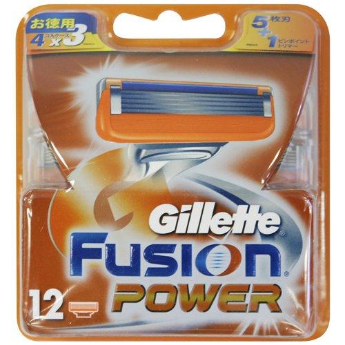 ジレットフュージョン5+1パワー専用替刃12B