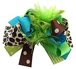 Needybee Baby Girls\' Big Bow Hair Clip Onesize Green