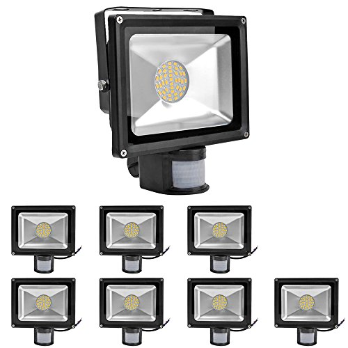 8-Pack 30W Warm White Waterproof Smd Pir Motion Sensor Security Lamp Light Led Flood Light Outdoor Lamp (30W)