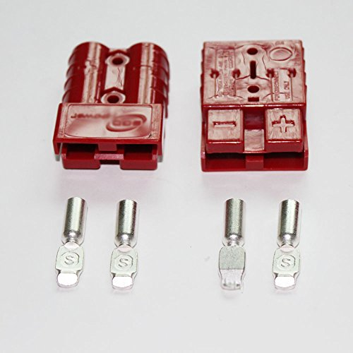 Sale!! Enjoy_buy100 Battery Quick Connector Kit 50AMP 6AWG Plug Connect Disconnect Winch Trailer Red