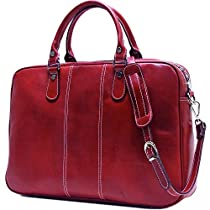 Floto Venezia Slim Red Briefcase Attache Lap-top Case