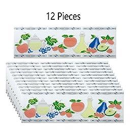 12 Pcs Ceramic Multi-Colored Tile 3 X 10 | Renovators Supply