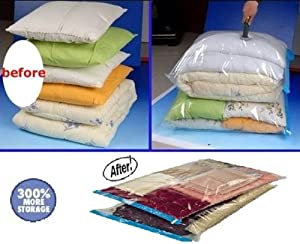 12 PACK Space Saver Vacuum Storage Bags 4 Medium size + 4 Large size + 4 Travel Bags