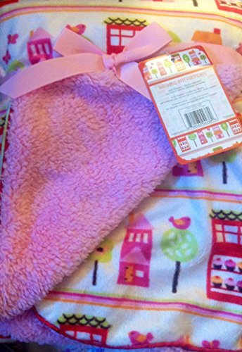 "Super Soft Sherpa Baby Blanket 30"" x 40"" Reversible Pink - Happy Town"