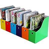 Evelots Lot of 6 Magazine/File Holders Bin Desk Organizer Kitchen Organizer