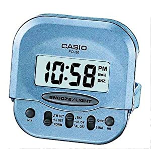 Casio - PQ-30-2EF - Alarm Clock - Quarzuhrwerk - Alarm - Bracelet Edelstahlband gold