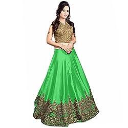 Pramukh Suppliers Women's Lehenga Choli Parrot Green_