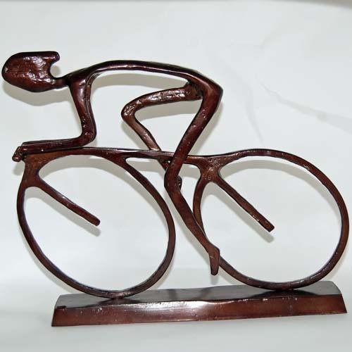 Bronze Cyclist Sculpture