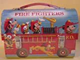 Hallmark School Days 2000 Walt Disney Character Fire Fighers Dommed Lunch Box with Coa and Limited Edition Number