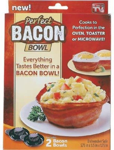 As Seen On Tv: Perfect Bacon Bowl [3 Pieces] *** Product Description: Perfect Bacon Bowleverything Tastes Better In A Bacon Bowl! Cooks To Perfection In The Oven, Toaster Oven, Or Microwave. Quick And Easy- Just Wrap Your Favorite Cut Of Bacon Ar ***