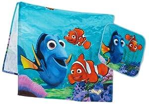 Disney Pixar Finding Nemo 2 Piece Bath Wash Fiber Reactive Print Towel Set A