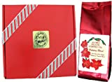 Christmas Coffee, Christmas Gift Box of Kona Hawaiian Coffee, 8 Oz Ground, Yuletide Flavored Kona Blend Coffee