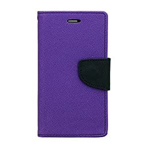 Micromax Canvas knight Flip Cover by yora - Purple Customised New Design Perfect Fitting Video Stand View Flip Cover Case