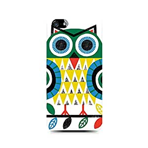Rayite Colorful Owl Premium Printed Case For Apple iPhone 5/5s