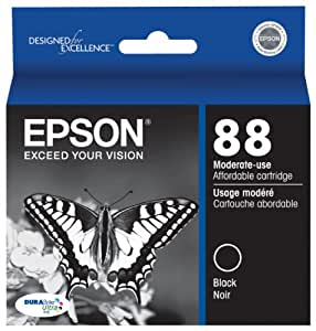 Epson T088120 DURABrite Ultra 88 Moderate-use Inkjet Cartridge -Black