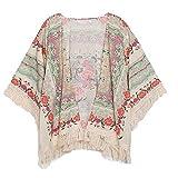HL(TM) Nouveau Classique Fleurs glands Châle Cardigan en mousseline de soie kimono Cardigan Manteaux (L)...