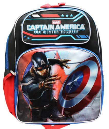 Full Size Captain America the Winter Soldier In Battle Kids Backpack