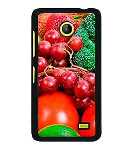 Fruits 2D Hard Polycarbonate Designer Back Case Cover for Nokia X :: Nokia Normandy :: Nokia A110 :: Nokia X Dual SIM RM-980 with dual-SIM card slots