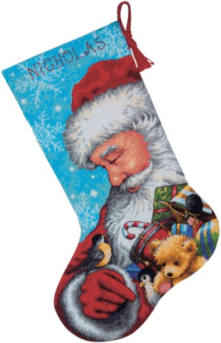 Dimensions Needlecrafts Needlepoint,  Santa and Toys Stocking