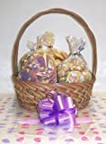 Scott's Cakes Large Easter Chick Classic Cookie Basket with Handle Bunny Hop Wrapping