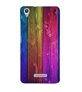 Colorful Wood Design 3D Hard Polycarbonate Designer Back Case Cover for Lava Iris Pixel V1