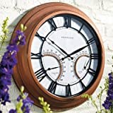 Oxford Outdoor Clock with Thermometer - Frontgate