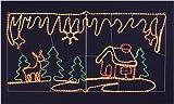 トナカイ&ハウス ピクチャー モチーフクリスマスのイメージをチューブライトで表現。W180の大きなモチーフが注目を集めます
