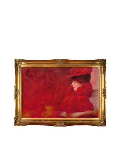 "Gustav Klimt's ""Lady in an Armchair"" Framed Oil Painting"