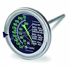 CDN IRM200-Glow ProAccurate Meat/Poultry Ovenproof Thermometer - Set of 2