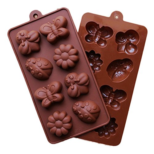 Sinuote Bugs Butterfly Flower Snail Chocolate Mold Ice Tray Silicone Cake Fondant Mould