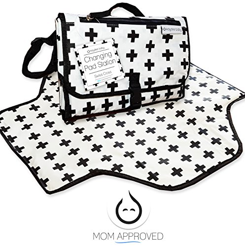 buy Kaydee Baby Changing Pad Station (Black and White Swiss Cross) - Perfect Unisex Design for Boys and for Girls for sale